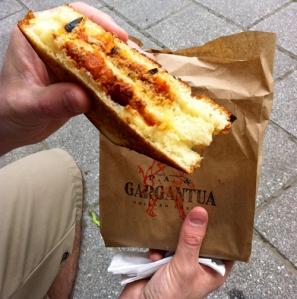 P.A. & Gargantua chili grilled cheese